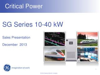SG Series 10-40 kW Sales Presentation December  2013