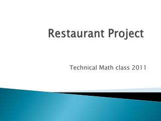 Restaurant Project