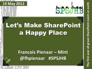 The first ever all green SharePoint event on earth