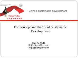 The concept and theory of Sustainable  Development