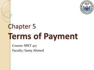 Chapter 5 Terms of Payment