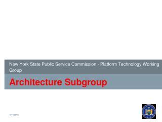 Architecture Subgroup