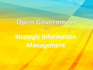 Open Government and