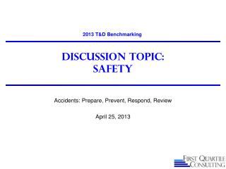 Discussion Topic: Safety