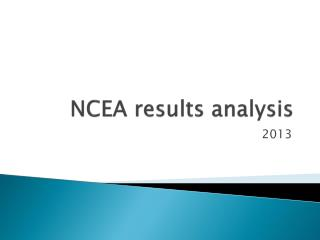 NCEA results analysis