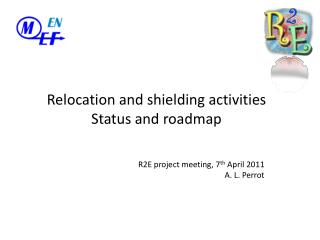Relocation and shielding activities Status and roadmap