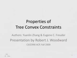 Properties of  Tree Convex Constraints
