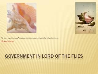 Government In lord of the flies