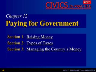 Chapter 12 Paying for Government