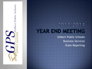 2013/2014 Year end Meeting
