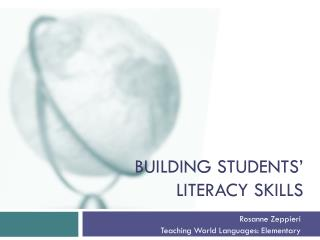 Building students' literacy skills