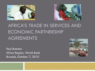 Africa's Trade in Services and Economic Partnership Agreements