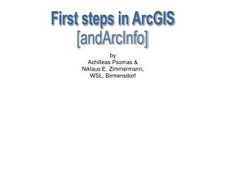 First steps in ArcGIS