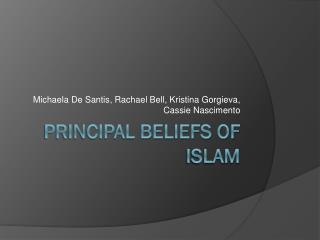 Principal Beliefs of Islam