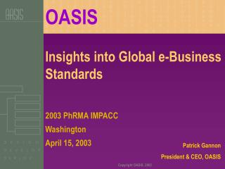 Insights into Global e-Business Standards