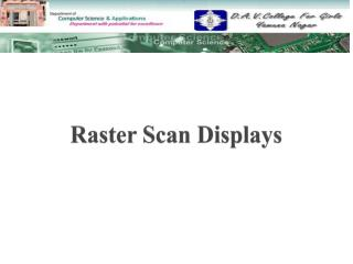 Raster Scan Displays