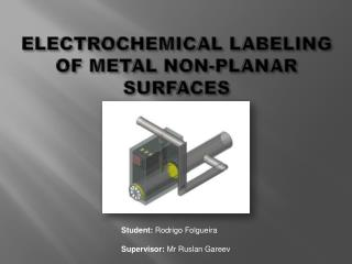ELECTROCHEMICAL LABELING OF METAL NON-PLANAR SURFACES