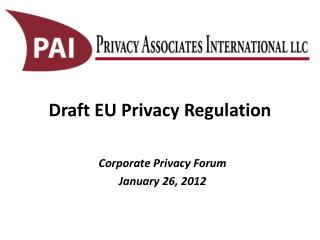 Draft EU Privacy Regulation