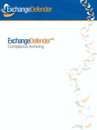 Compliance Archiving