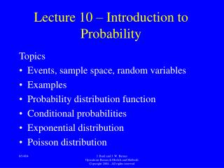 Lecture 10   Introduction to Probability