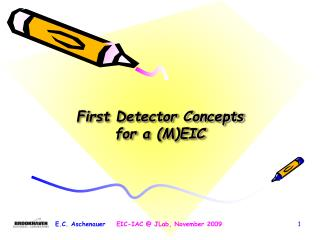 First Detector Concepts for a (M)EIC
