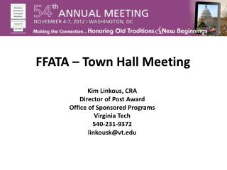FFATA – Town Hall Meeting