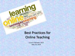 Best Practices for Online Teaching