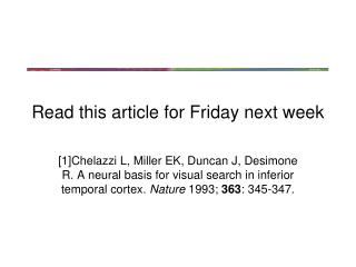 Read this article for Friday next week