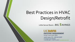 Best Practices in HVAC Design/Retrofit