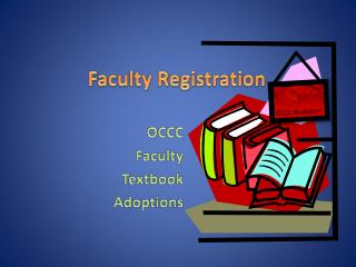 Faculty Registration