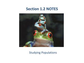 Section 1.2 NOTES
