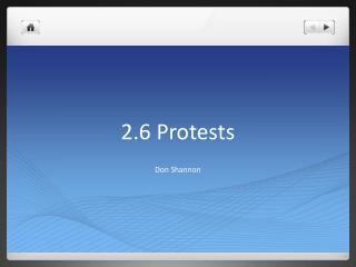 2.6 Protests