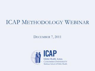 ICAP Methodology Webinar