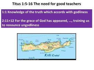 1:1 Knowledge of the truth which accords with  godliness