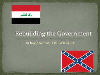 Rebuilding the Government