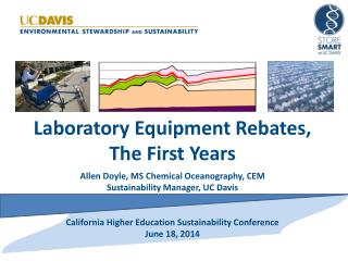Laboratory Equipment Rebates, The First Years Allen  Doyle, MS Chemical  Oceanography, CEM