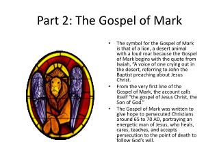 Part 2: The Gospel of Mark