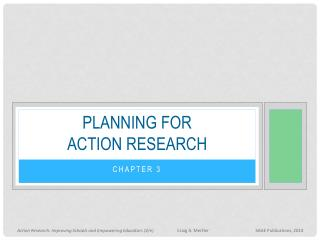 Planning for action research