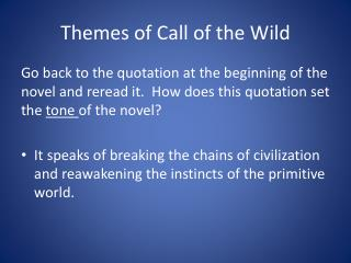 Themes of Call of the Wild