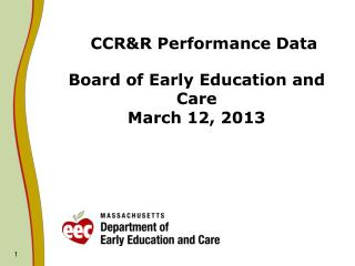 CCR&R Performance Data