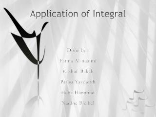 Application of Integral