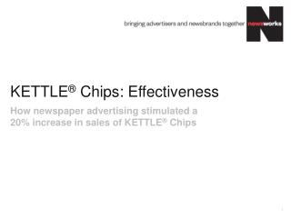 KETTLE ®  Chips: Effectiveness