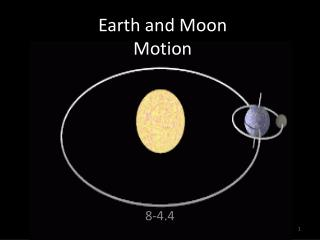 Earth and Moon  Motion