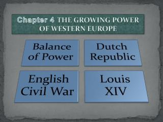 Chapter 4  The Growing Power of Western Europe
