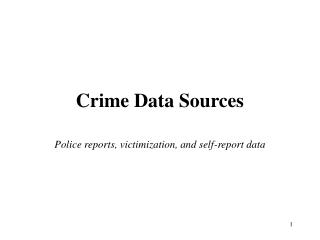 Crime Data Sources