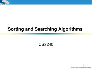 Sorting and Searching Algorithms