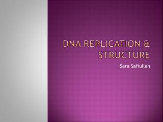 DNA Replication & Structure