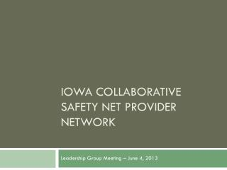 Iowa Collaborative Safety net provider network