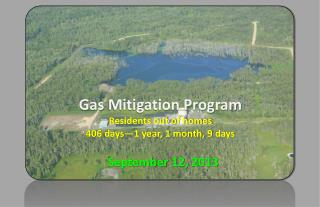 Gas  Mitigation Program Residents out of homes 406  days—1 year, 1 month,  9  days