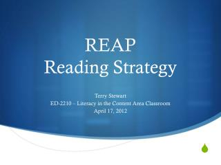 REAP   Reading Strategy